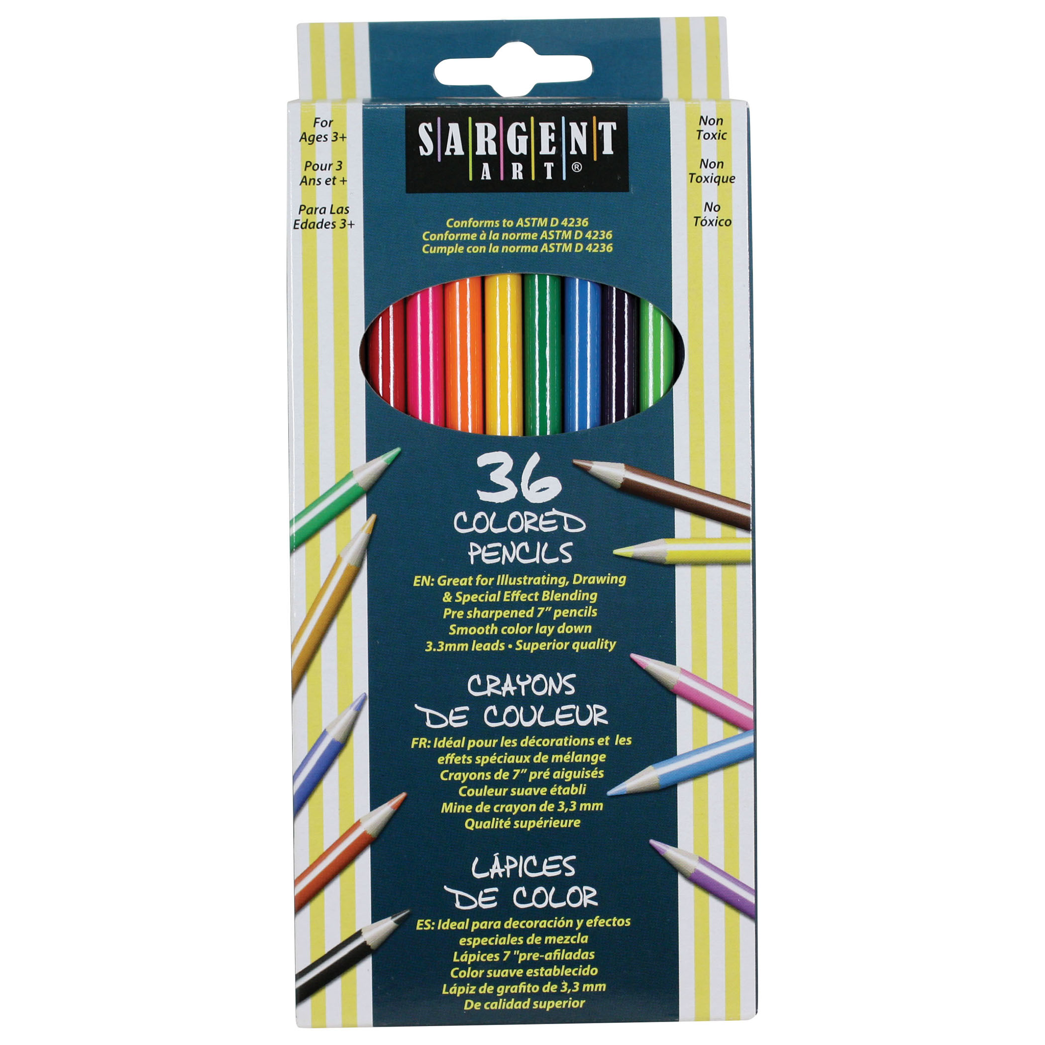 Sargent Art® Colored Pencils, 36 per pack, 6 packs