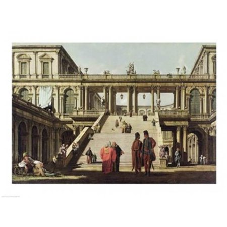 Posterazzi BALXKH155104LARGE Castle Courtyard 1762 Poster Print by Giovanni Antonio Canaletto - 36 x 24 in. - Large - image 1 of 1