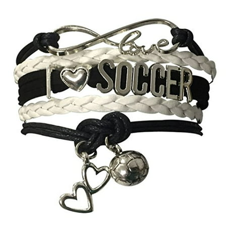 Soccer Gifts Bracelet Jewelry Love Adjule Charm