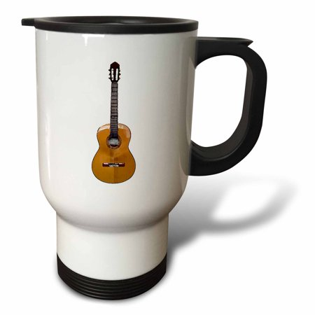 3dRose Classical Guitar, Travel Mug, 14oz, Stainless Steel