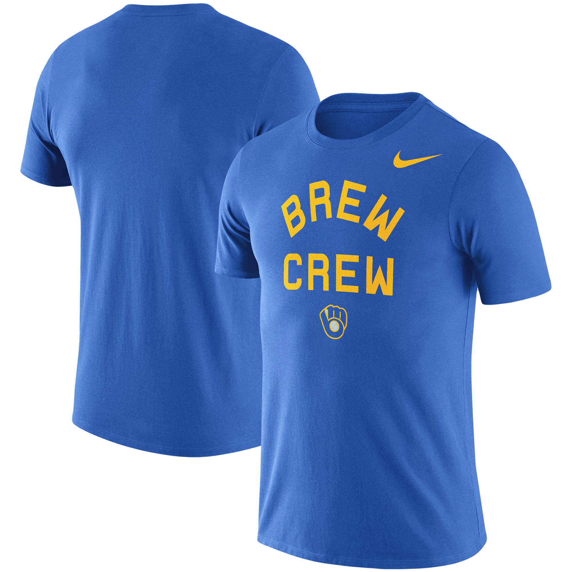Milwaukee Brewers Nike MLB Brew Crew Local Phrase T-Shirt - Royal