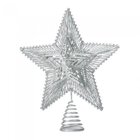 SILVER STAR TREE TOPPER ()