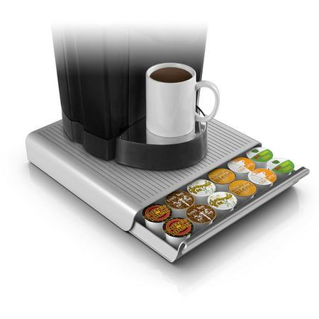 Mind Reader 36 Capacity K Cup Single Serve Coffee Pod Storage Drawer Organizer  Grey