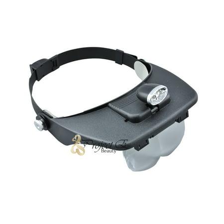 LED Magnifying Head Light Lamp Lens Dental Loupe Lab Glass Salon Magnifier