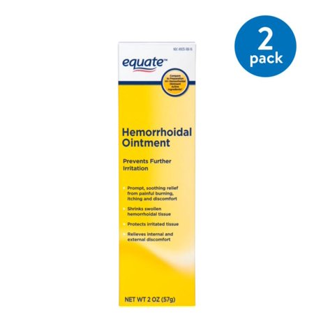 (2 Pack) Equate Hemorrhoidal Ointment, 2 Oz