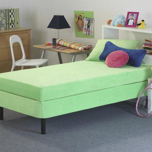 Memory Foam Kidz 8'' Kid's Memory Foam Mattress with Water Proof Cover in Green