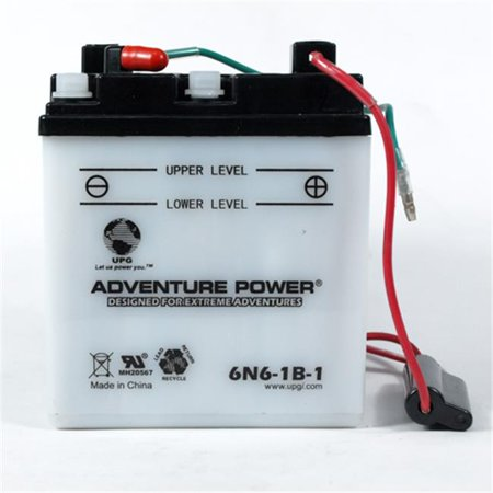 Universal Power 6N6-1B-1 3 89 in  L 6 Volt Conventional