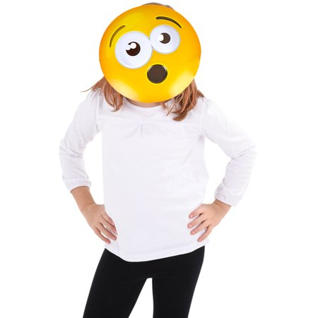 Texting Emoticon Emoji O Face Surprised Mask Costume Accessory (Skype Emoticons Halloween)