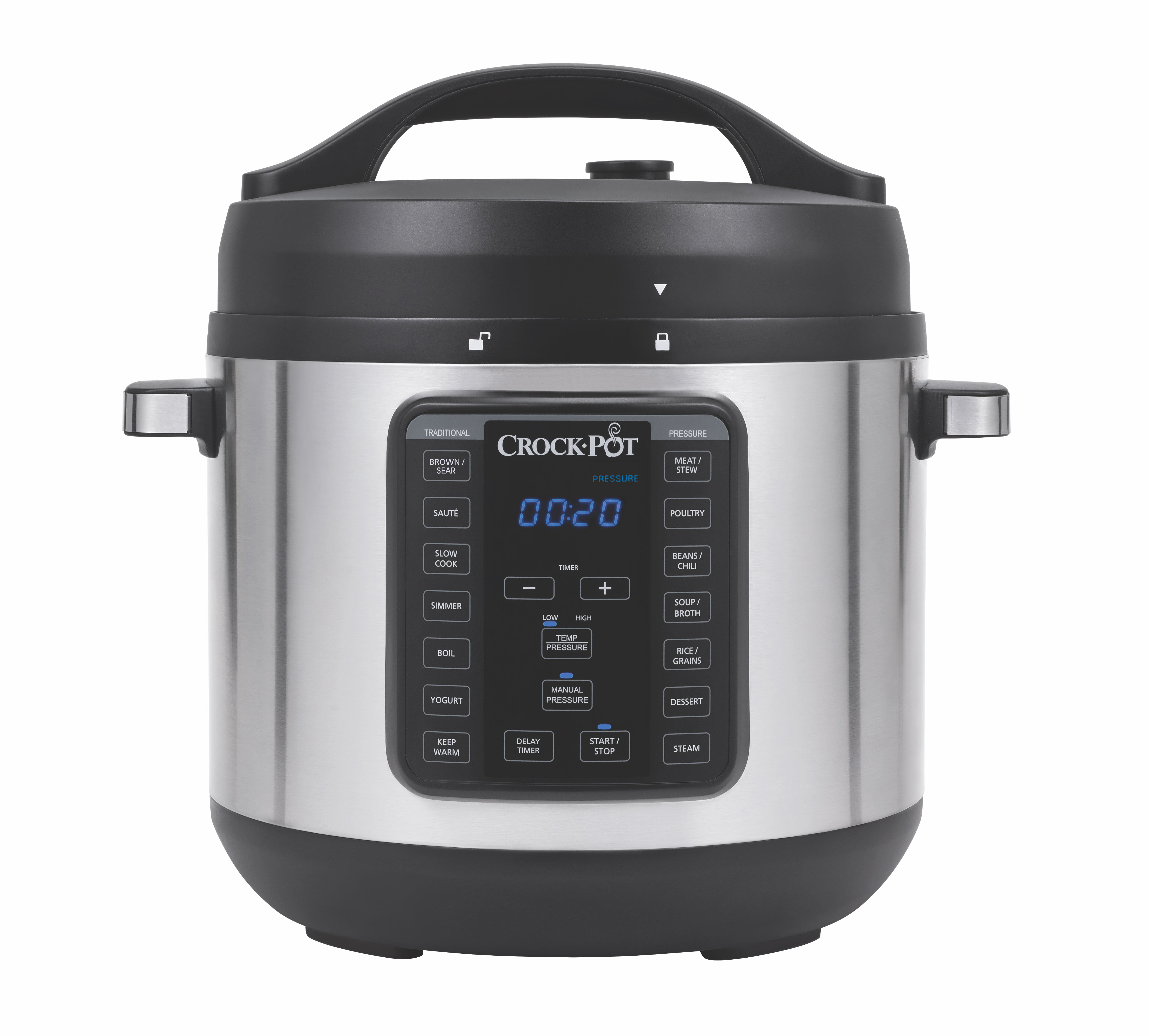 Crock Pot 8 Qt In 1 Multi Use Express Programmable Slow Cooker Pressure Saut And Steamer Stainless Steel