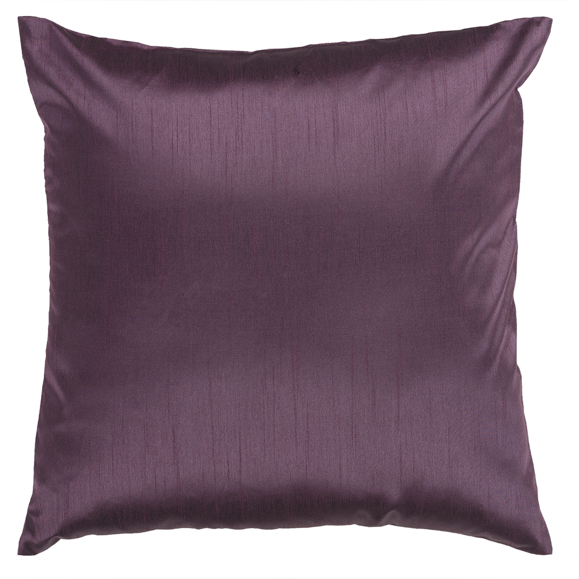 Art of Knot Shiny Solid Hand Crafted Decorative Pillow, Prune