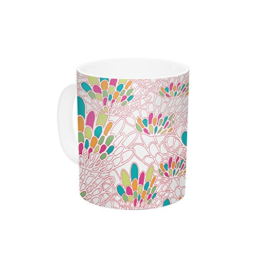 "Kess InHouse Miranda Mol ""Blown Away"" Pink Ceramic Coffee Mug, 11 oz, Multicolor"