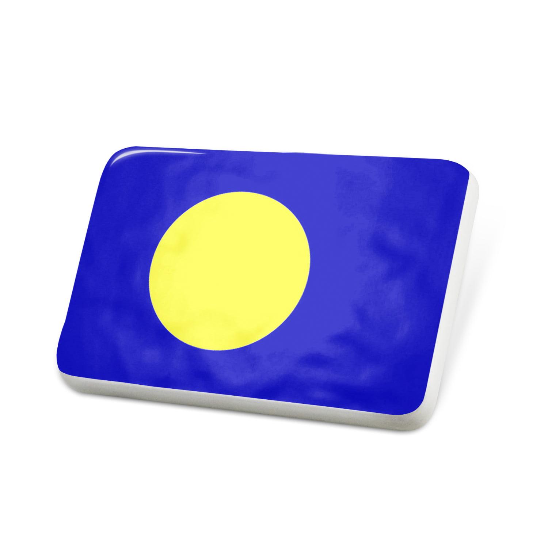 Porcelein Pin Palau Flag Lapel Badge – NEONBLOND
