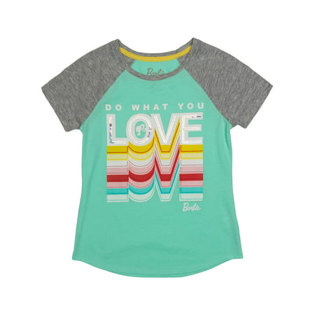 Love Embroidered Sequin Raglan Graphic Tee (Little Girls & Big - Little Miss Love Tee