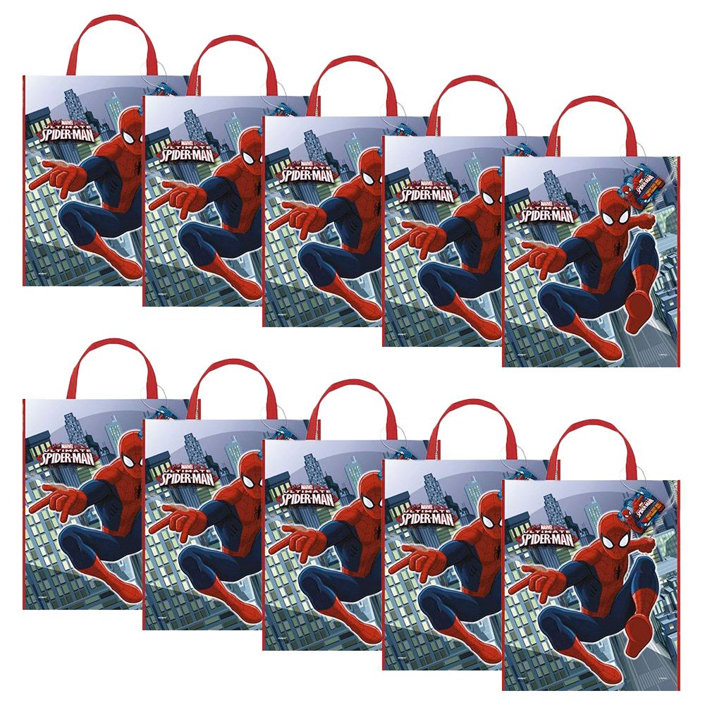 Spiderman Tote Bag (Set Of 10) - Party Supplies