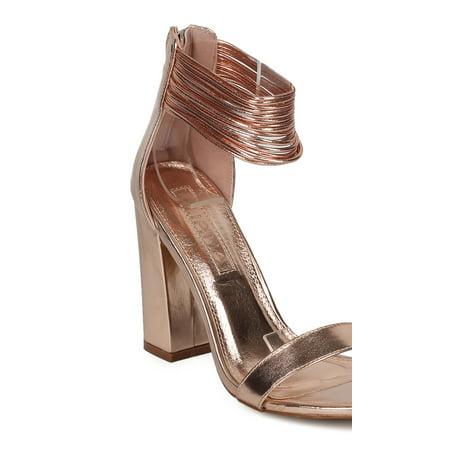 c8ac6b4ec3f Women Open Toe Strappy Ankle Cuff Block Heel Sandal HE10 - Walmart.com