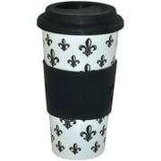 KitchenWorthy Ceramic Fleur De Lys Tumbler - 16 Units