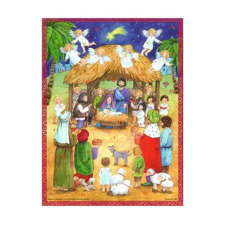Alexander Taron Sellmer Large Nativity with Children Advent Calendar (Set of 2) - Child Nativity Set