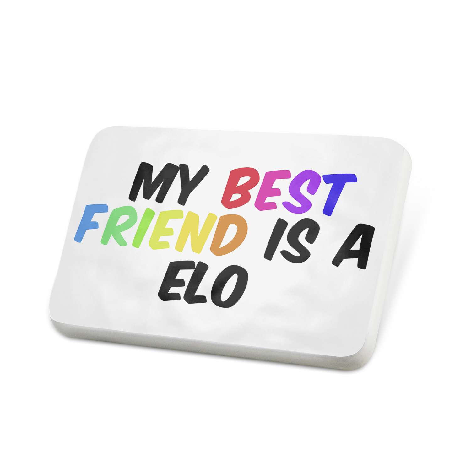 Porcelein Pin My best Friend a Elo Dog from Germany Lapel Badge – NEONBLOND