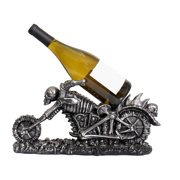 "Raising Hell ""Skeleton Chopper"" Wine Bottle Holder"