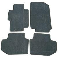 fits 03-07 honda accord floor mats carpet front & rear gray 4pc - nylon
