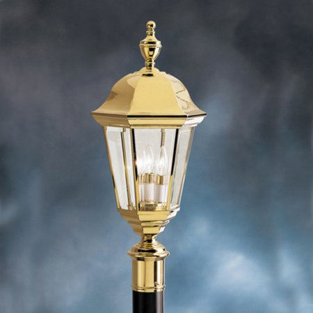 Kichler Grove Mill 9989PB Outdoor Post Lantern - 9.75 in. - Polished