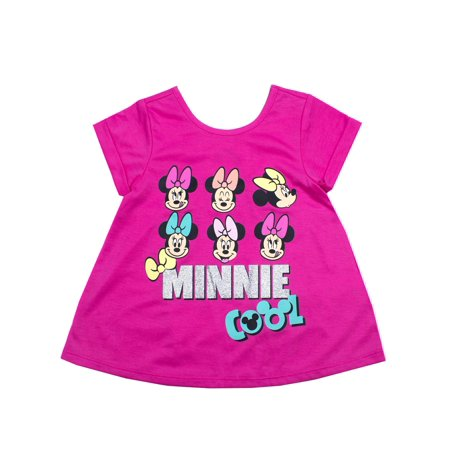 Minnie Mouse Roll Cuff T-Shirt (Toddler Girls) - Gangster Minnie Mouse