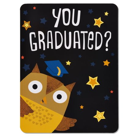 American Greetings Graduation Owl Gift Card Holder with Music (Graduation Music)