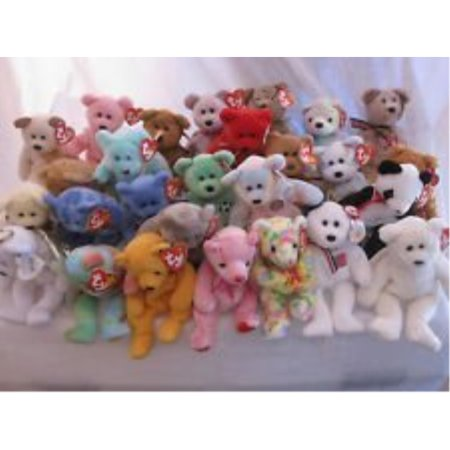 ty beanie babies - 10 different bears lot - great for birthday parties, favors, easter baskets, stocking stuffers etc