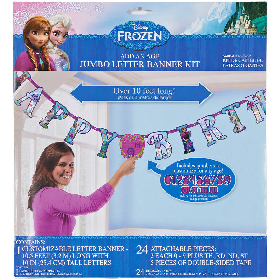 Frozen Add-an-Age Birthday Party Banner, Party Supplies