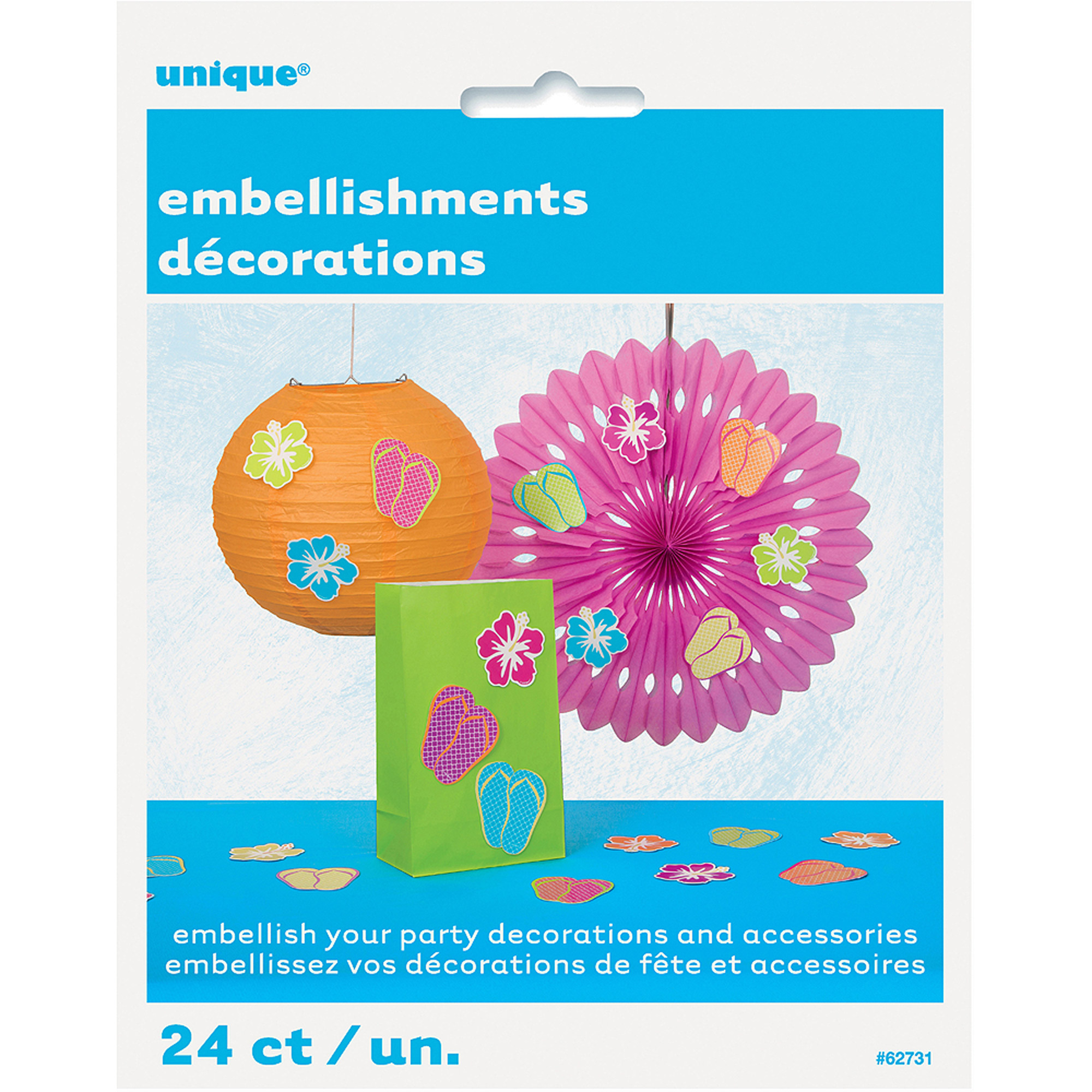 Summer Party Embellishments, 24-Count