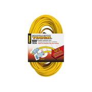 Prime EC511835 - Power extension cable - NEMA 5-15 (F) to NEMA 5-15 (M) - 100 ft - yellow