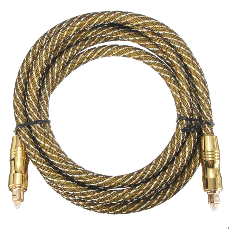 1Pcs 6.5ft Premium Toslink Fiber Optic Digital Audio Optical Cable S/PDIF toslinkcablecord Cord Wire Multi-Media Cord Wire