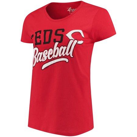 Womens G Iii 4Her By Carl Banks Red Cincinnati Reds Endzone Fashion T Shirt