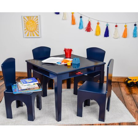 Ace Bayou Kids Navy Table and Stool Set with Storage (Best Ace Bayou Chair Rockers)