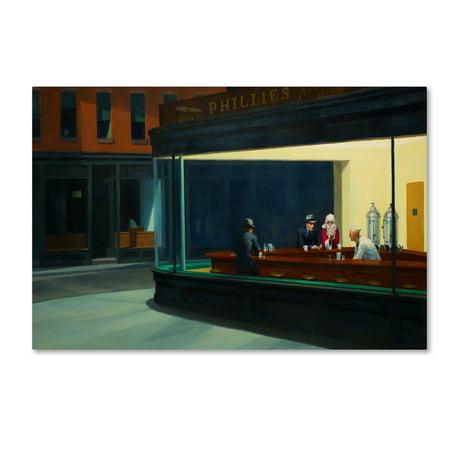 Trademark Fine Art 'Hopper - Nighthawks' Canvas Art by Ed Wheeler Ed Hand Numbered Fine Art