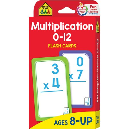 Flash Card: Multiplication 0 -12: Flashcards (Other)