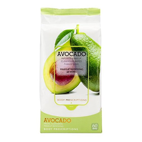 Body Prescriptions Avocado Infused Facial Cleansing Wipes, Eye Makeup and  Mascara Remover, Womens Face Care Beauty Products, - Walmart.com