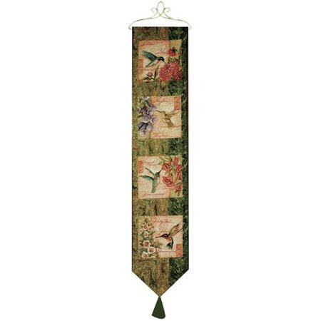 Manual Woodworkers & Weavers Wings and Blossoms Bell Pull Tapestry and Wall (Wings Tapestry)