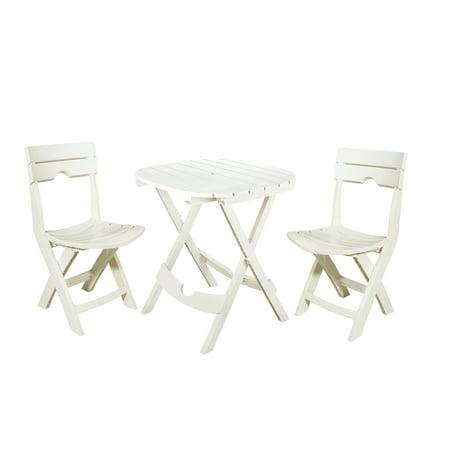 Adams Manufacturing Quik-Fold Cafe Set, White (Adams Manufacturing Quik Fold Cafe Bistro Set)