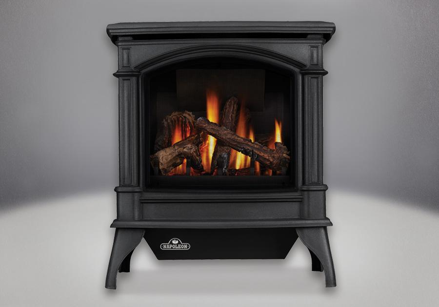 GVFS60-1N Vent-Free Cast Iron Gas Stove in Painted Metallic Black: Natural Gas by Napoleon