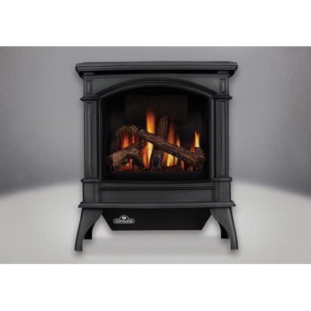 GVFS60-1N Vent-Free Cast Iron Gas Stove in Painted Metallic Black: