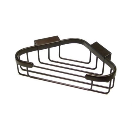 Solid Brass Rectangular Shower Basket (Deltana WBC8570 8-1/2