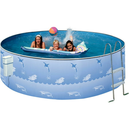 Heritage round 12 39 x 36 above ground swimming pool for Swimming pool supplies walmart