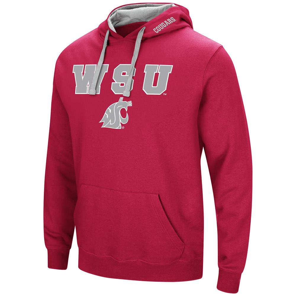 Mens Washington State Cougars Pull-over Hoodie 2XL by Colosseum