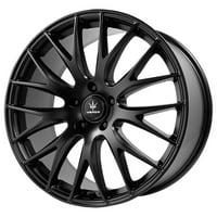 """20"""" Inch Verde V27 Saga 20X8.5 5x120 +38mm Satin Black Wheel Rim"""
