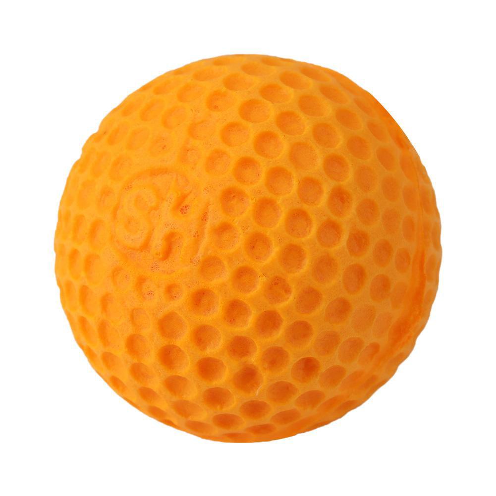 100pcs Soft Elastic Rounds Refill Compatible Replace Bullet Balls for children Kids Toy Gun(orange)