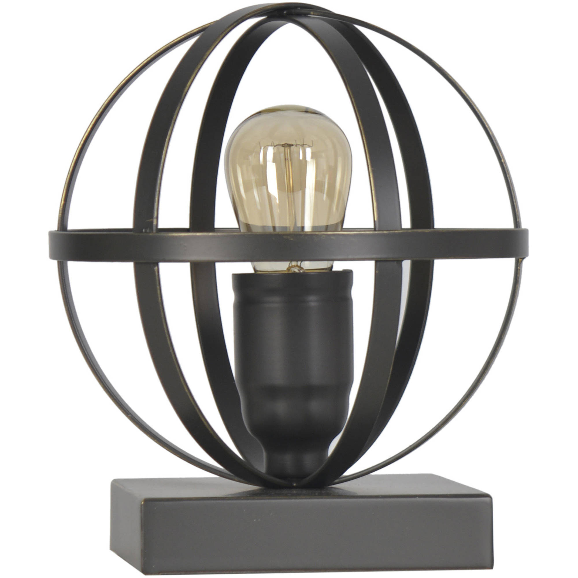 Better Homes and Gardens Black Industrial Orb Lamp