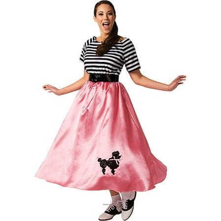 Poodle Skirt Adult Halloween Costume