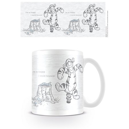 Winnie The Pooh -Ceramic Coffee Mug / Cup (Tigger: I'm so happy I could bounce!)