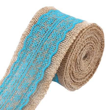 Room Decor Burlap DIY Gift Wrapping Packing Craft Ribbon Roll Blue 3.3 - Room Roll